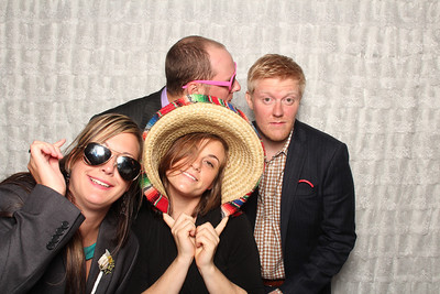 Andrea & Andrew's wedding at the Blue Dress Barn. Photo Booth by: Ben Pancoast Photography