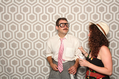 Kim & Brians beach wedding in Saint Joseph Mi. photo booth by: Ben Pancoast Photography