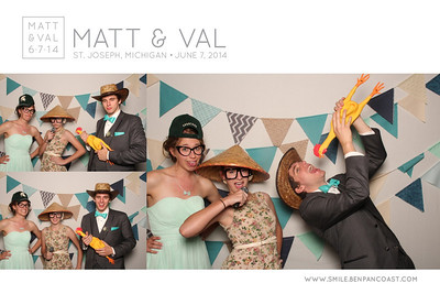 The Photo Booth at Matt & Val's wedding in Saint Joseph Mi.